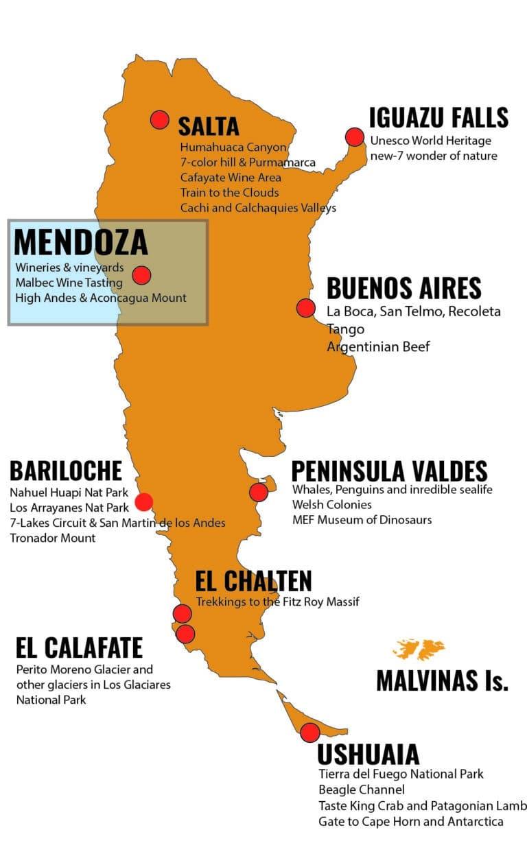 MAPA ARGENTINA DESTINOS - MDZ_Mesa de trabajo 1