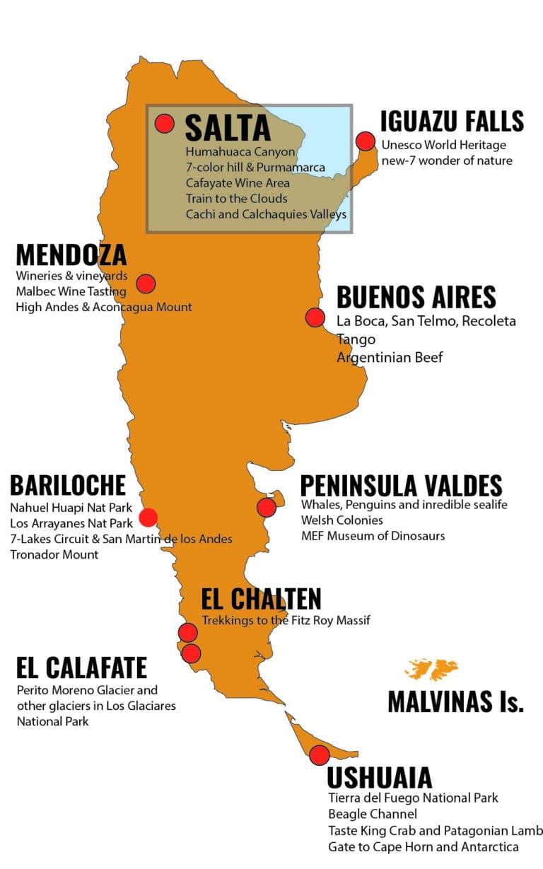MAPA ARGENTINA DESTINOS - SLA_Mesa de trabajo 1