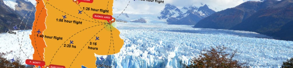 Approximated flight times between main destinations in Agentina - RipioTurismo DMC for Argentina