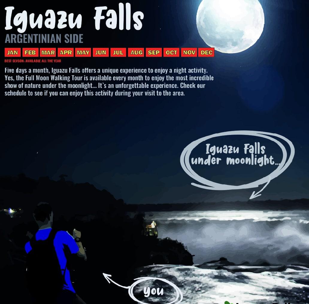 Full Moon Walking Tour in Iguazu Falls - Argentina and Brazil - RipioTurismo DMC for Argentina and Brazil