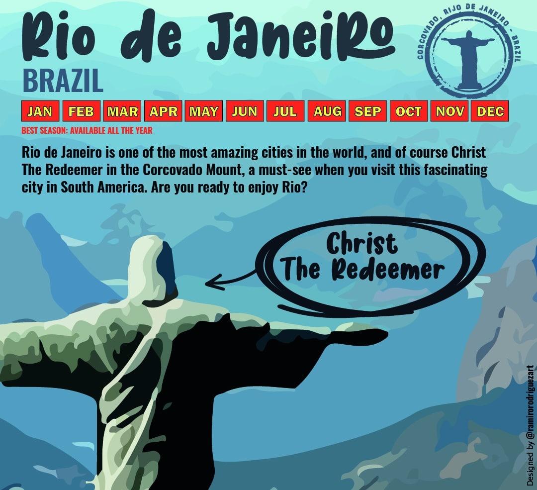 Christ the Redeemer ,when to go to Rio de Janeiro?