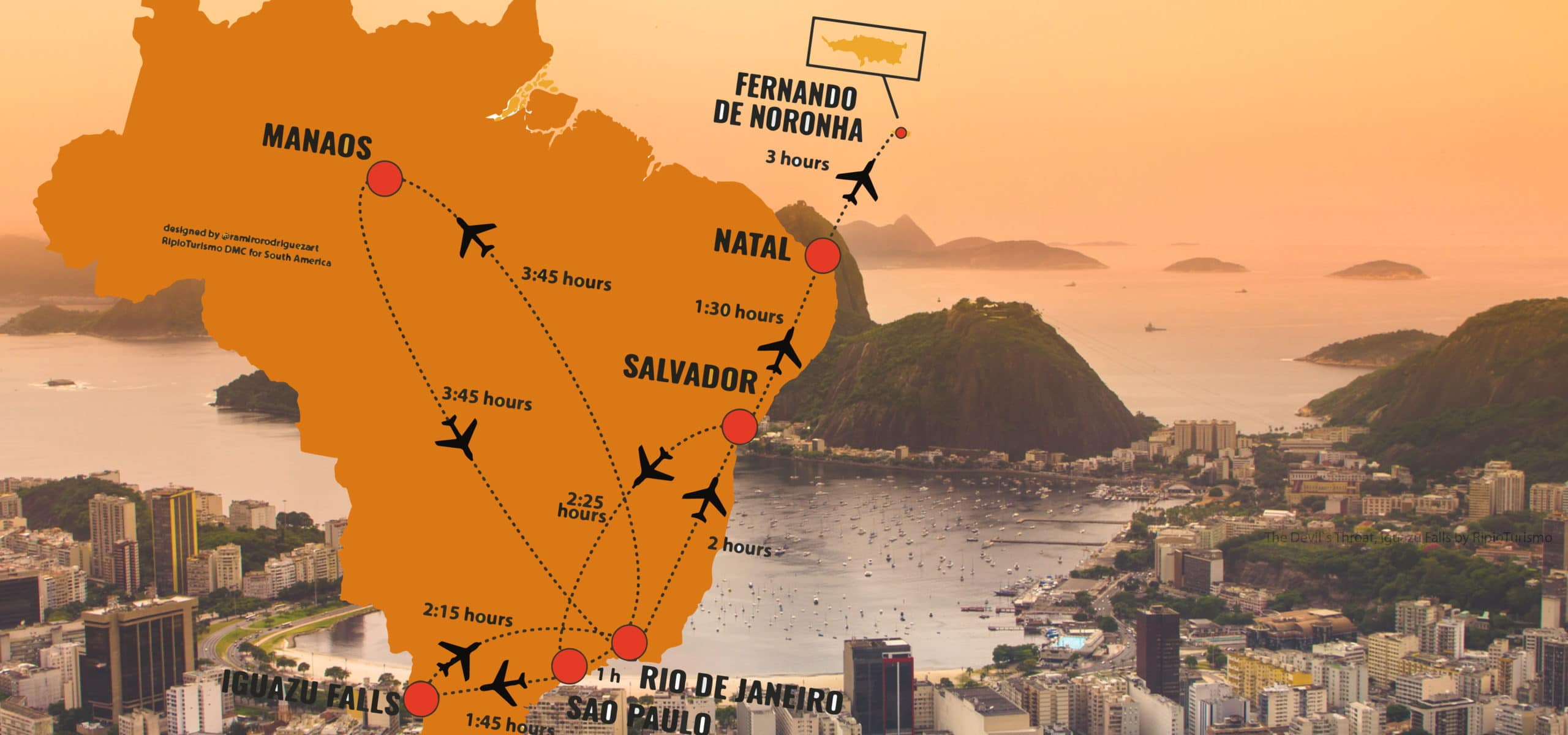 Approximated flight timmings in Brazil - ripioturismo incoming tour operator argentina and brazil