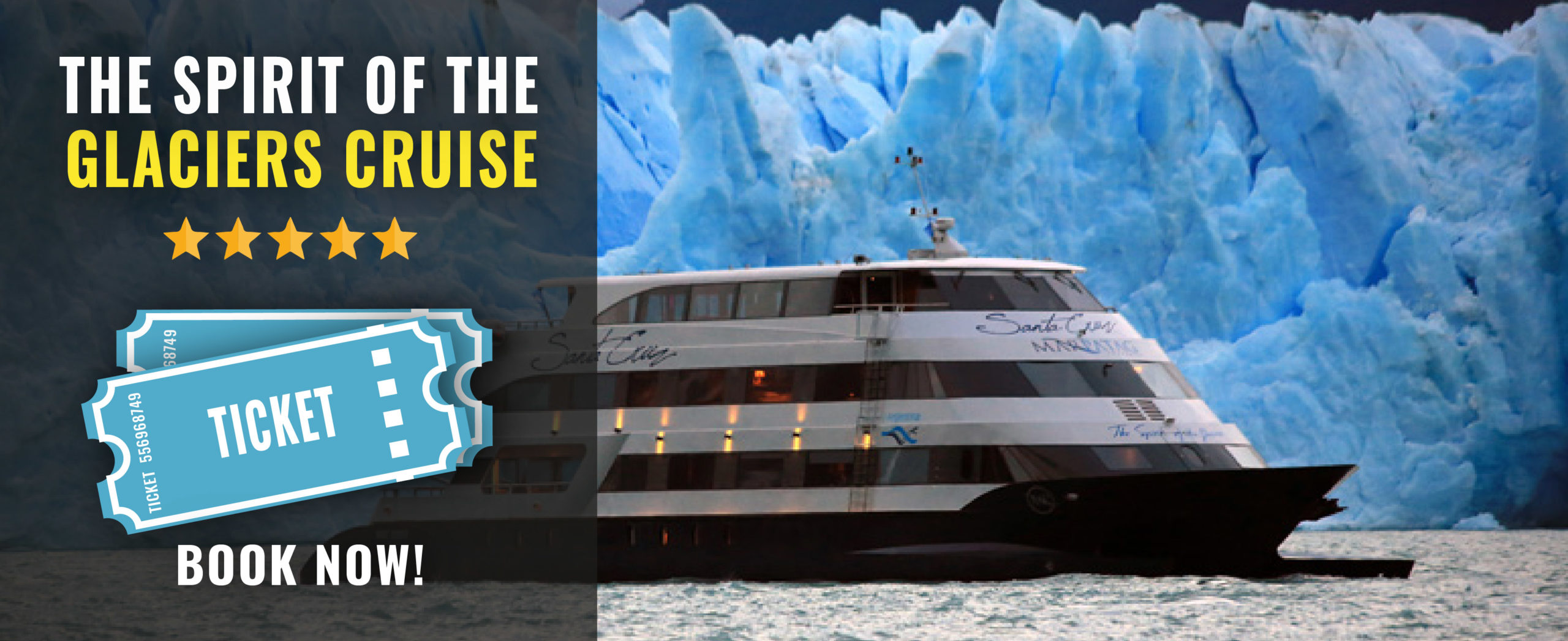 TICKETS SPIRIT OF THE GLACIERS CRUISE IN PATAGONIA