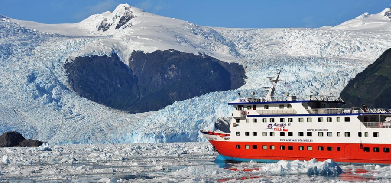 Skorpios 3 Cruise, Kaweskar Route, Cruises in Patagonia, by RipioTurismo DMC for South America