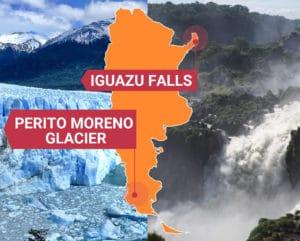 FROM EL CALAFATE TO IGUAZU FALLS