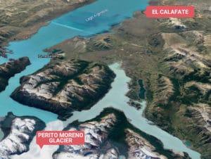 How far is Perito Moreno Glacier from El Calafate?