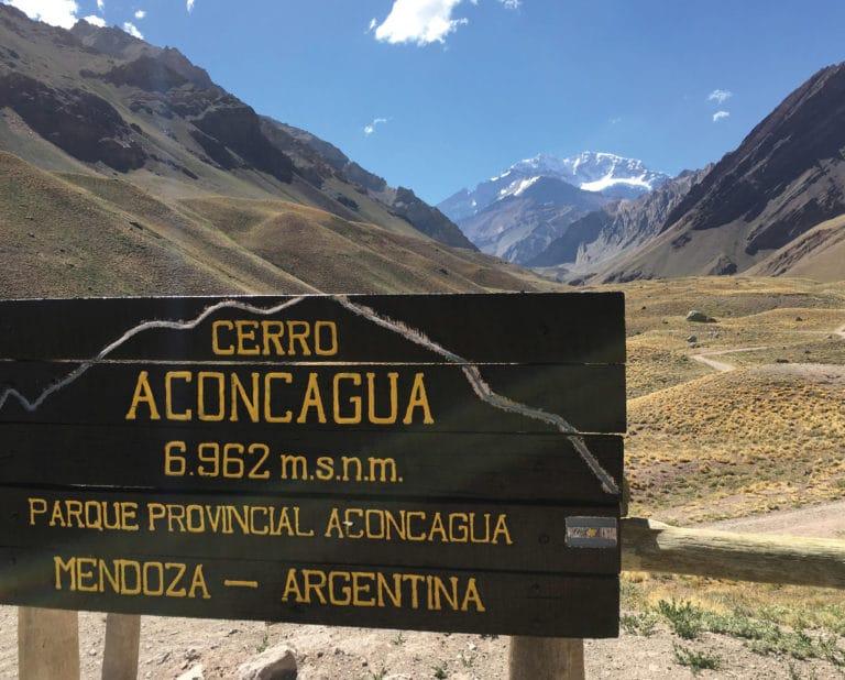 Aconcagua mountain in Mendoza