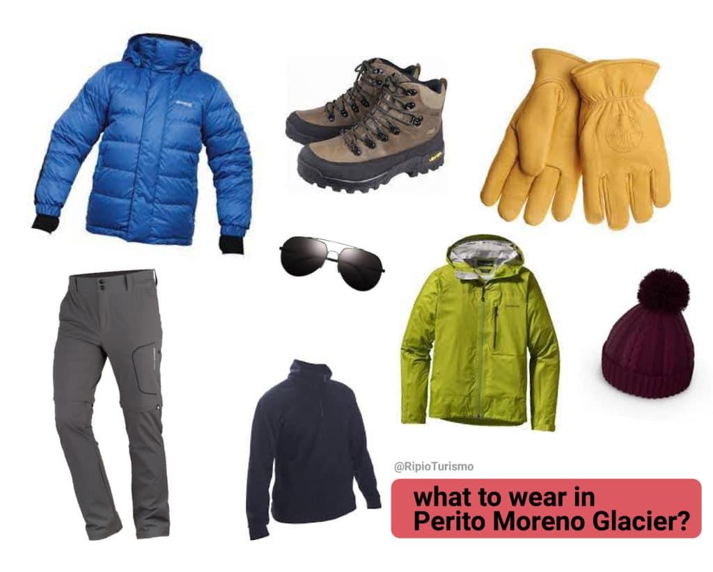 What to wear in Perito Moreno Glacier?