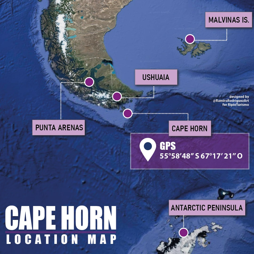 CAPE HORN LOCATION MAP