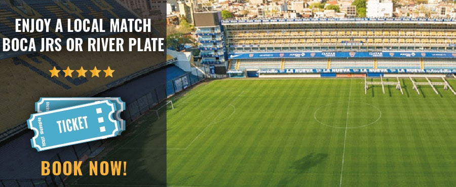 Book tickets to enjoy a match of River Plate or Boca Juniors