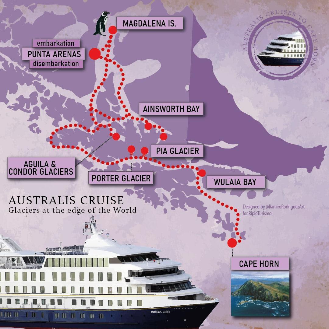 australis edge of the world itinerary. 2021-2022 season
