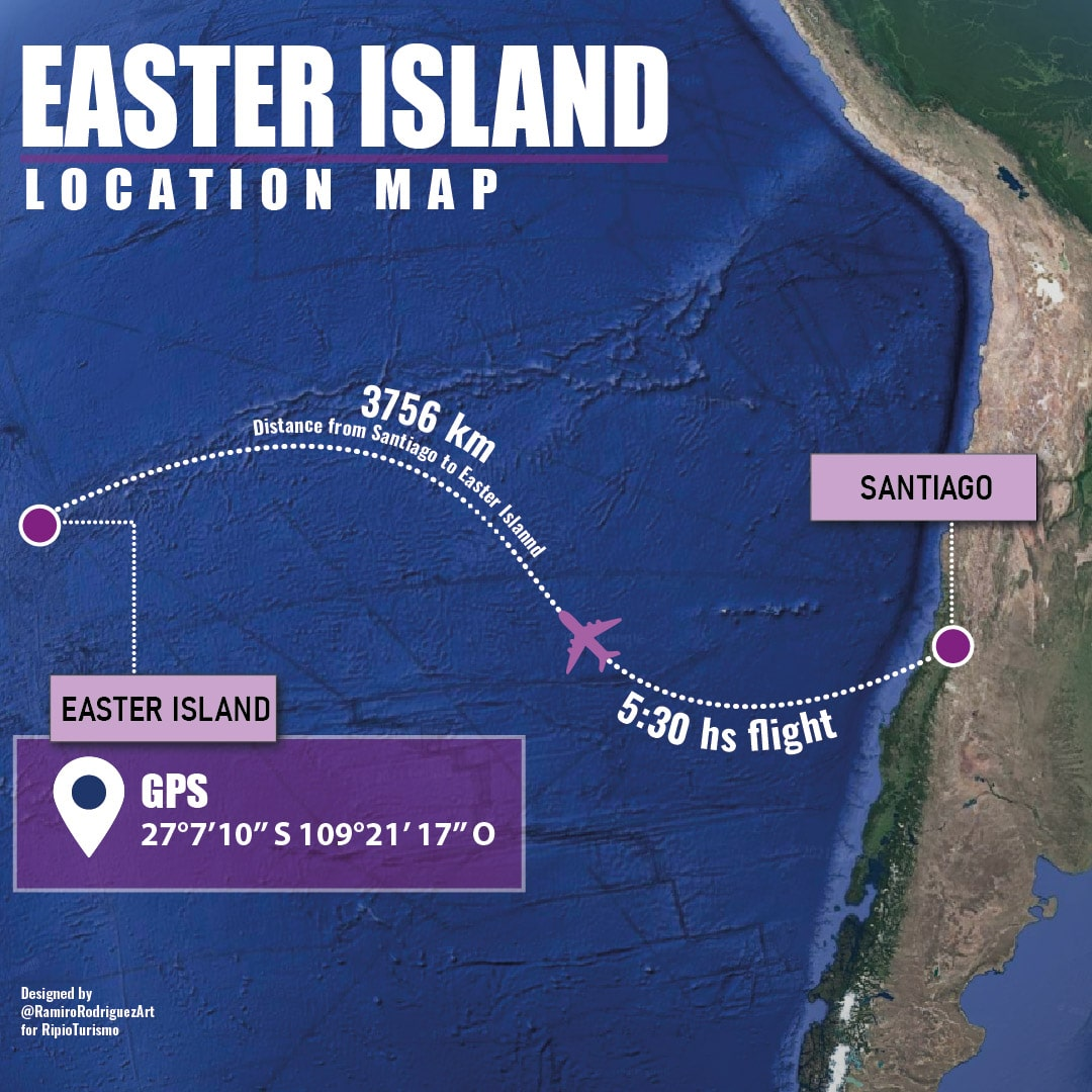 Easter Island Map. Location of Easter Island