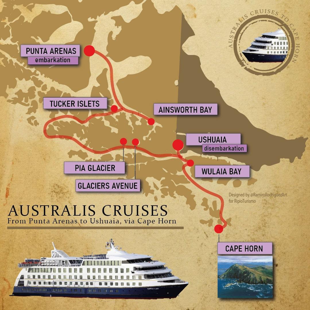 Australis Cruise from Punta Arenas to Ushuaia