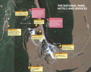 Map of the national parks in Iguazu Falls