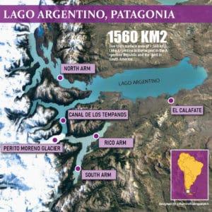 ARGENTINO LAKE in Patagonia, Argentina