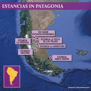 ESTANCIAS IN PATAGONIA MAP