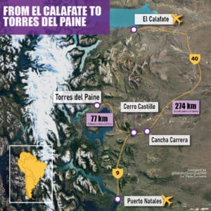 from el calafate to torres del paine