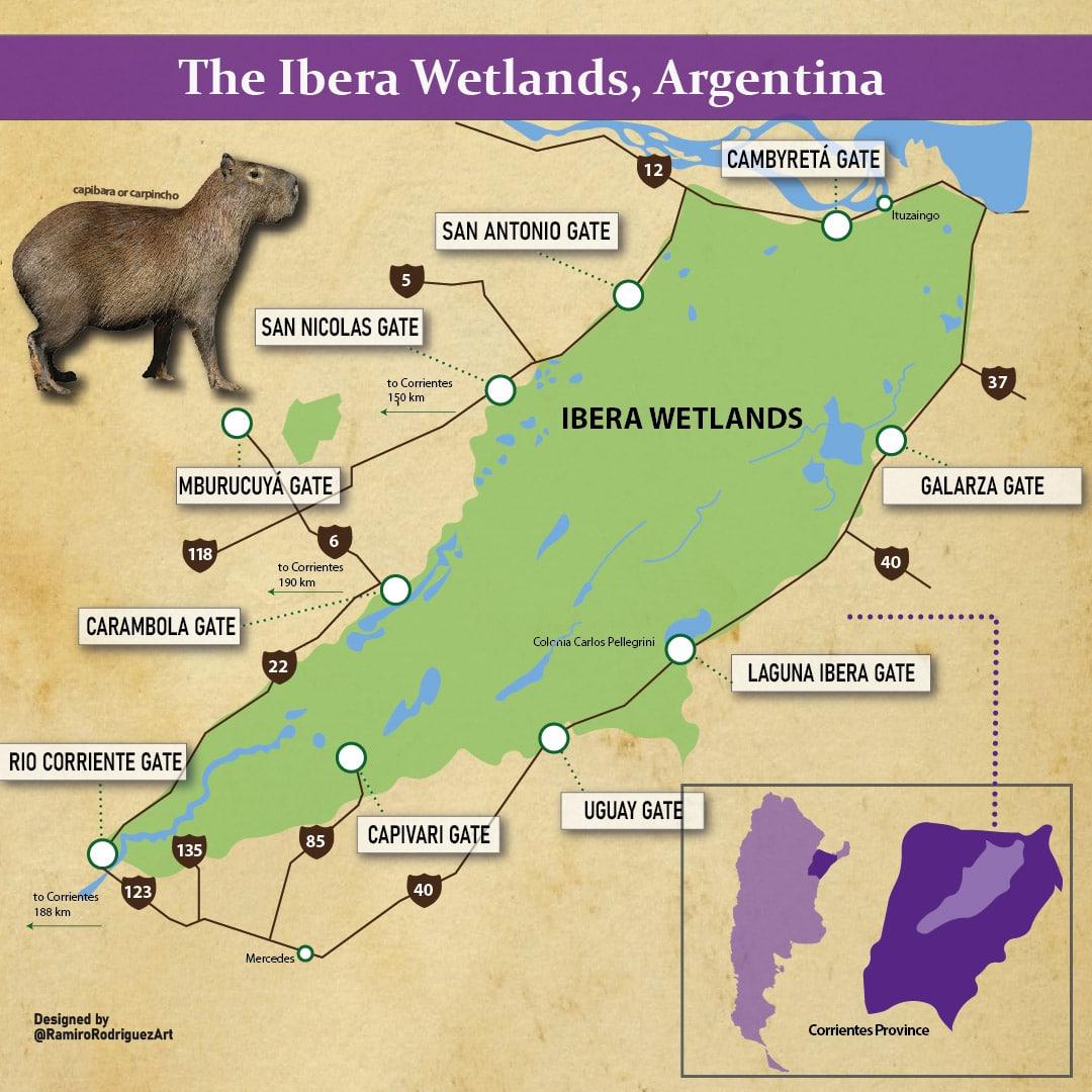 ibera wetlands reserve map