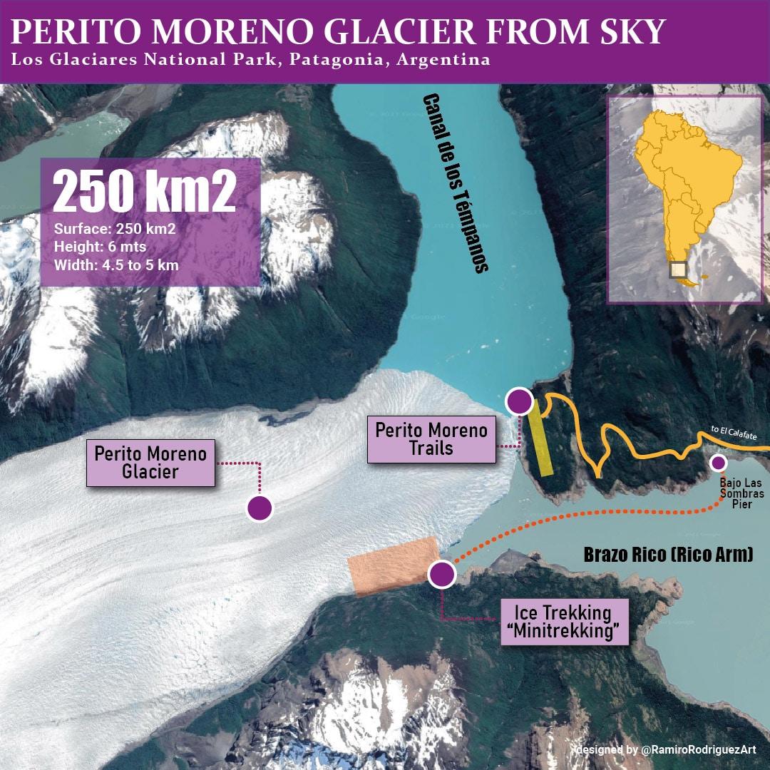perito moreno glacier from sky