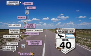 Route 40 in Patagonia. The famous 40 national route in Patagonia
